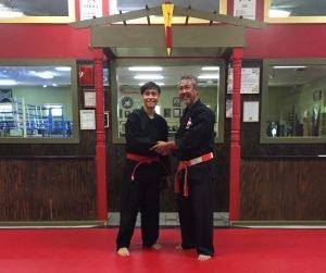 Jadens Red Belt Test Promotion