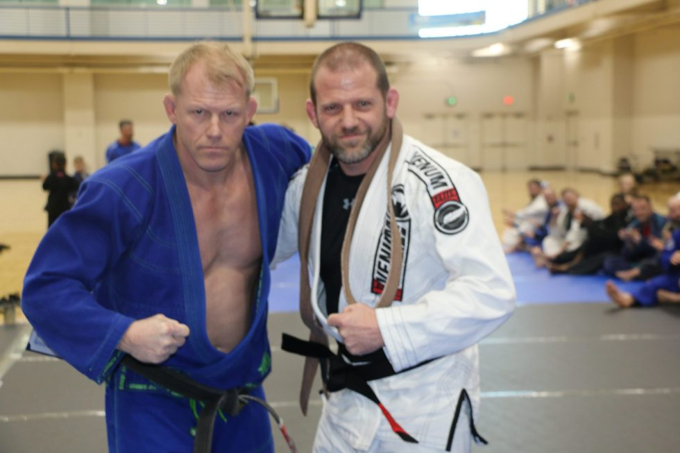 Sensei Shawn Hammonds Black Belt Promotions in MTSU with JR