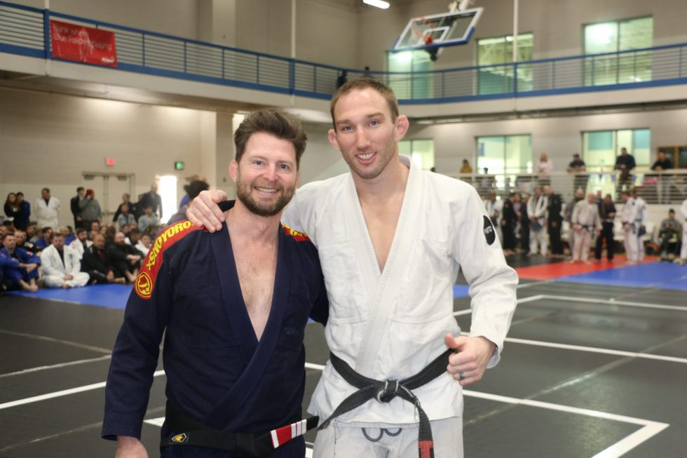"""David Rielly and John Salty """"Salty Dog"""" at Hammonds' Black Belt Promotions in MTSU"""